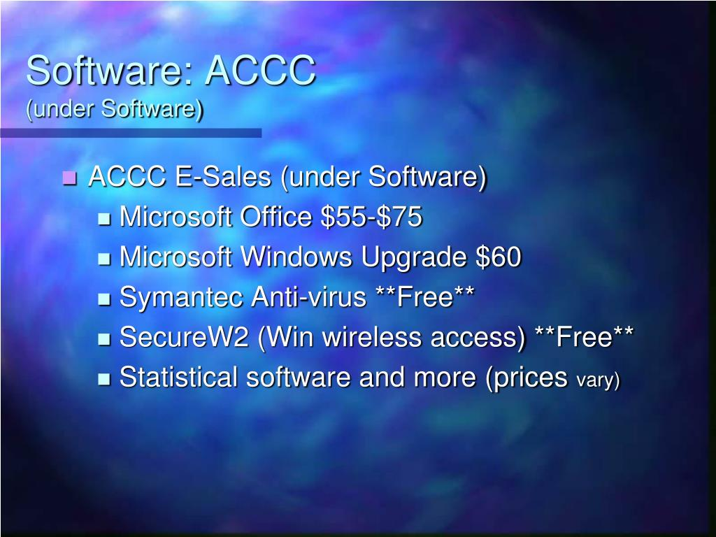 Software: ACCC