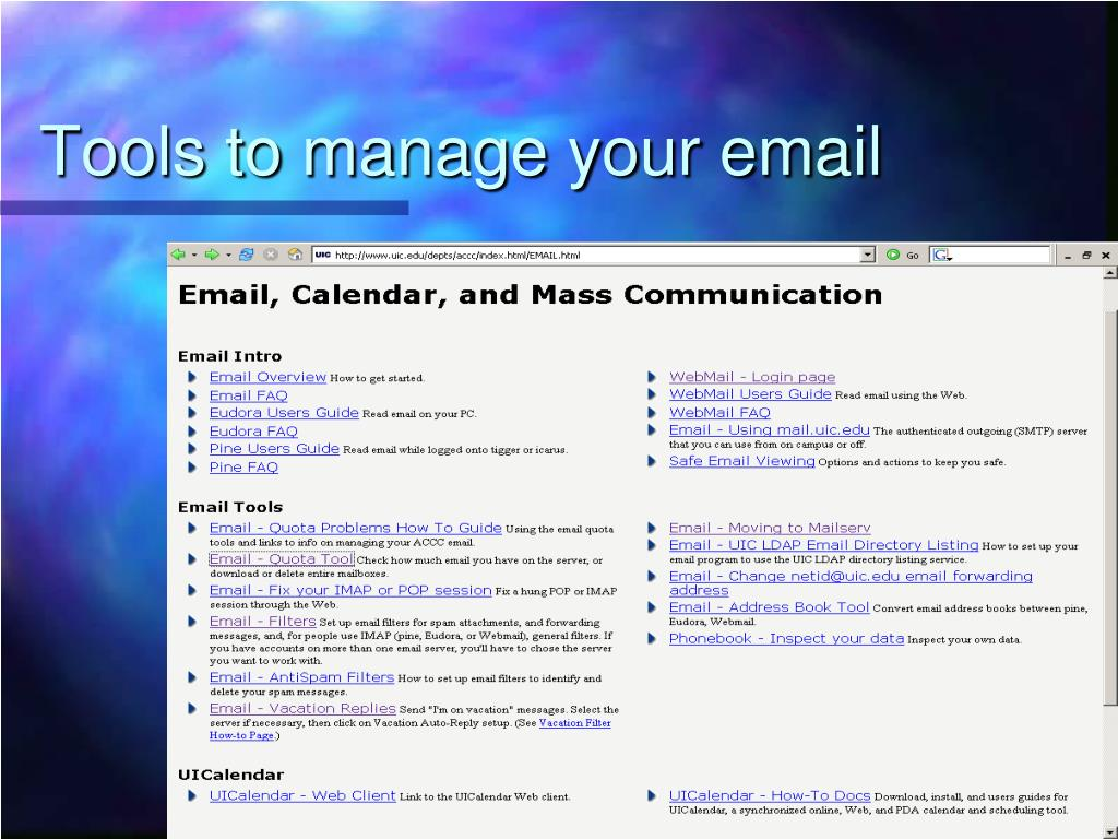 Tools to manage your email