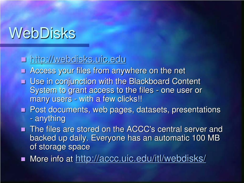 WebDisks