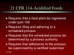 21 cfr 114 acidified foods