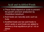 acid and acidified foods