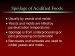 spoilage of acidified foods