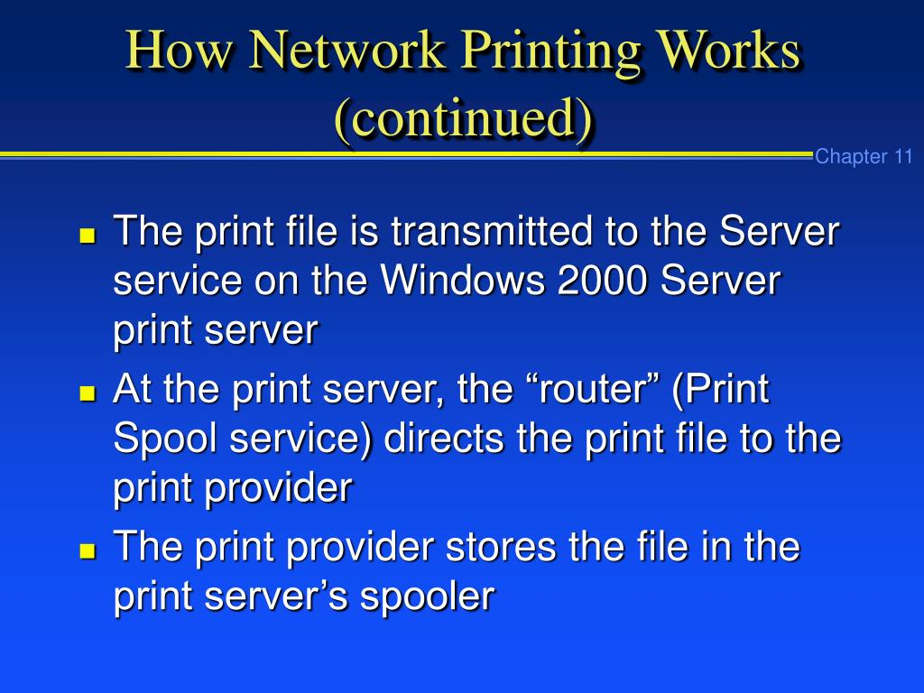 How Network Printing Works (continued)