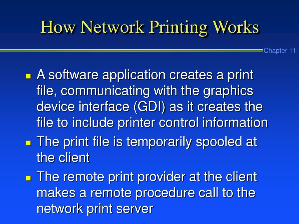 How Network Printing Works