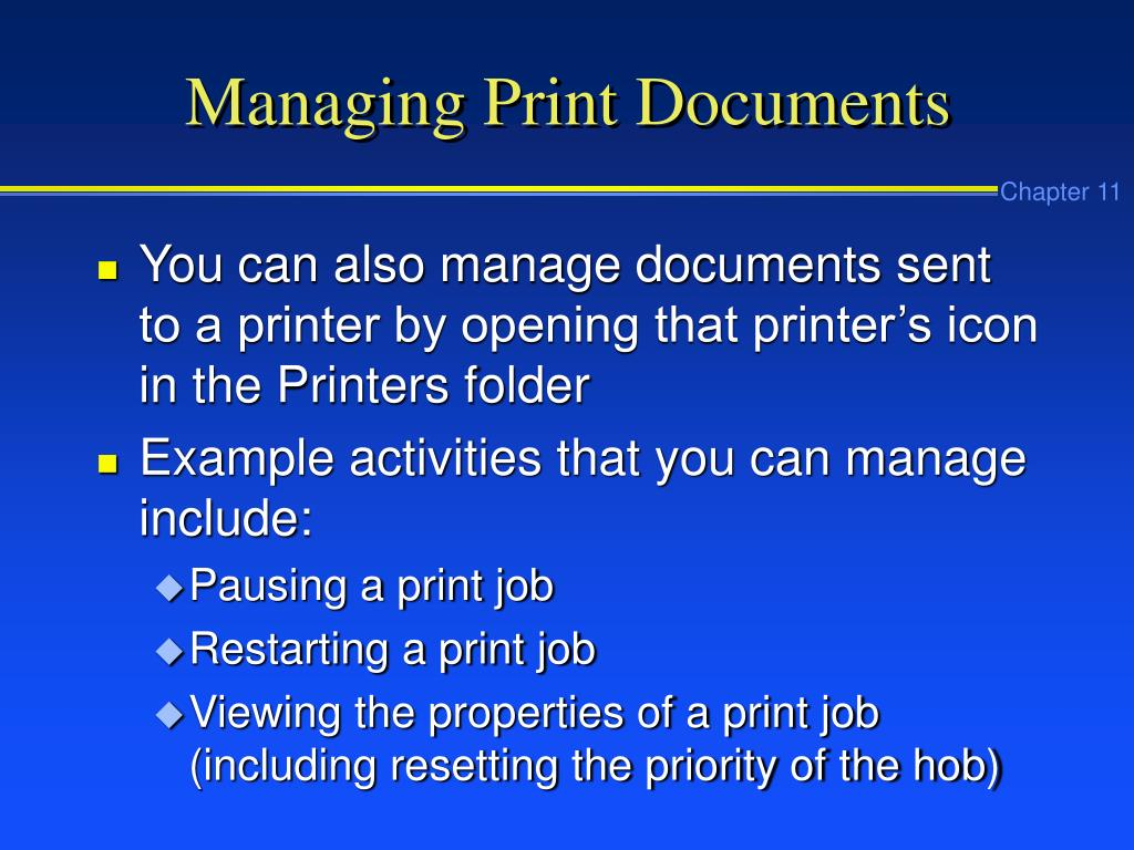 Managing Print Documents