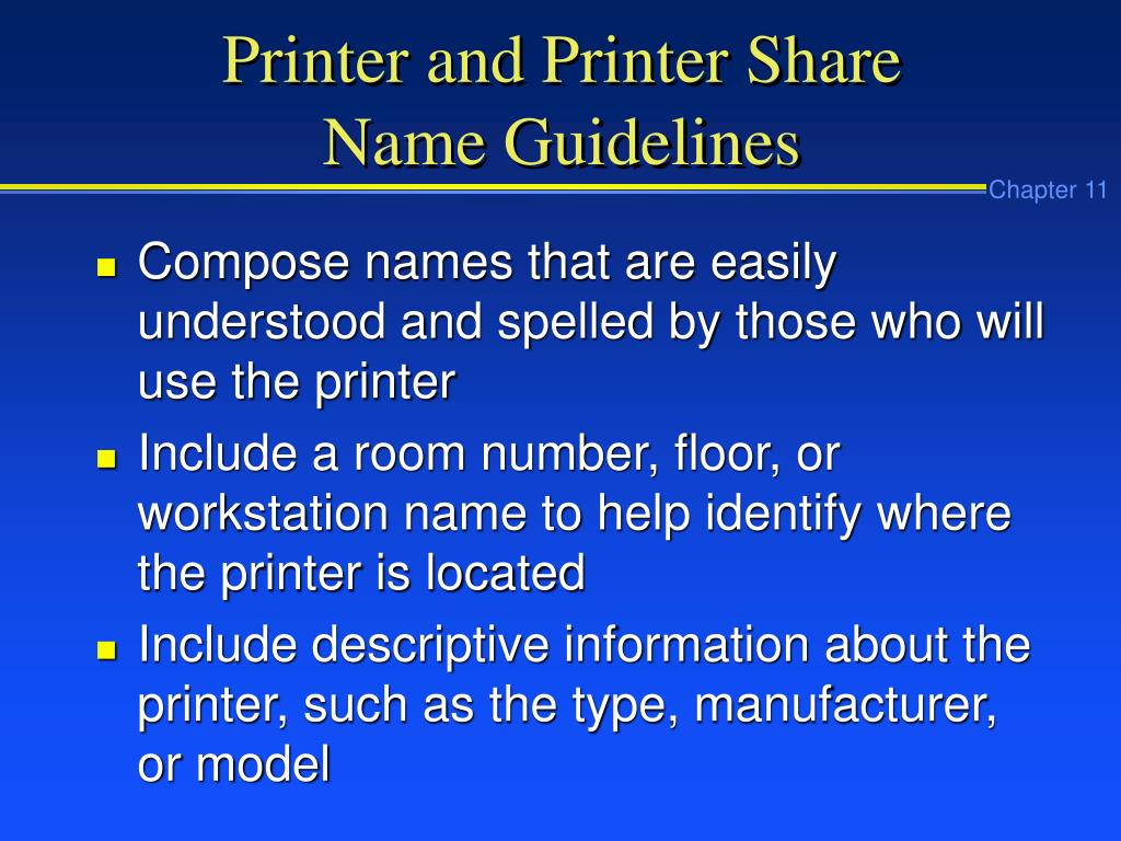 Printer and Printer Share