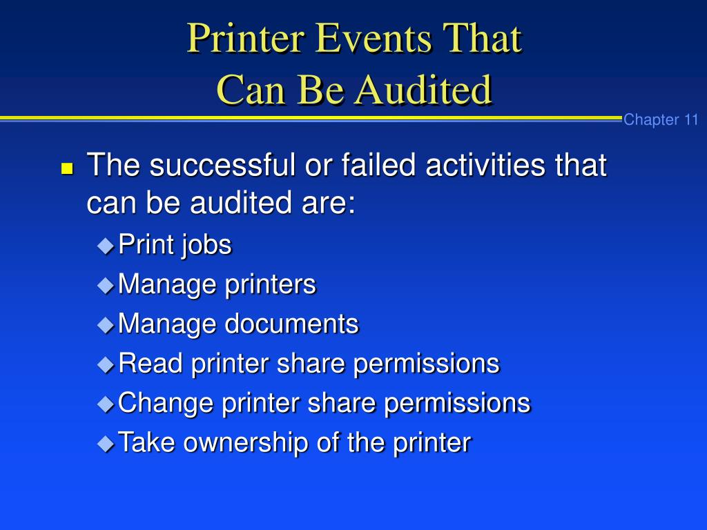 Printer Events That