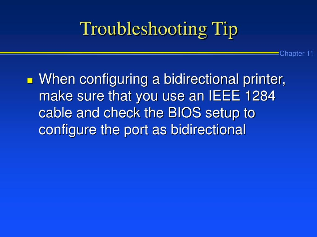 Troubleshooting Tip