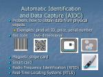 automatic identification and data capture aidc