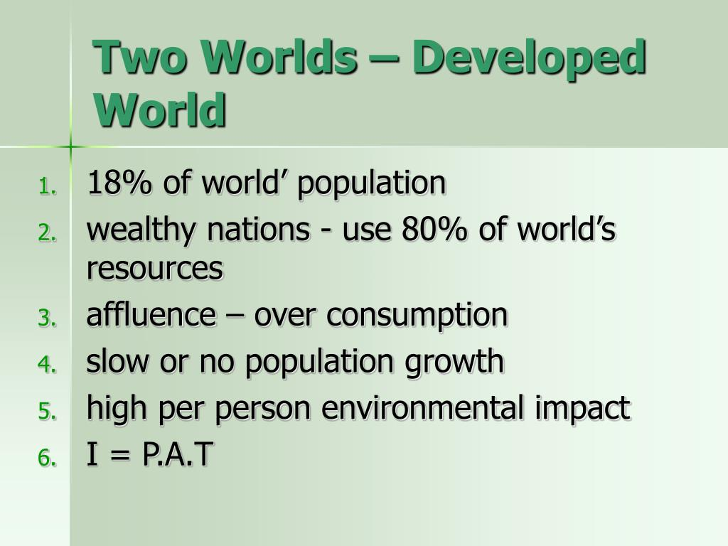 Two Worlds – Developed World