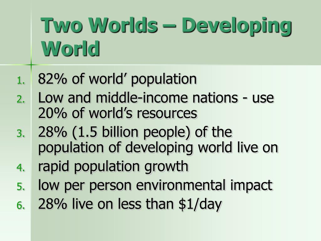 Two Worlds – Developing World