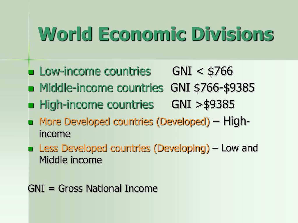 World Economic Divisions