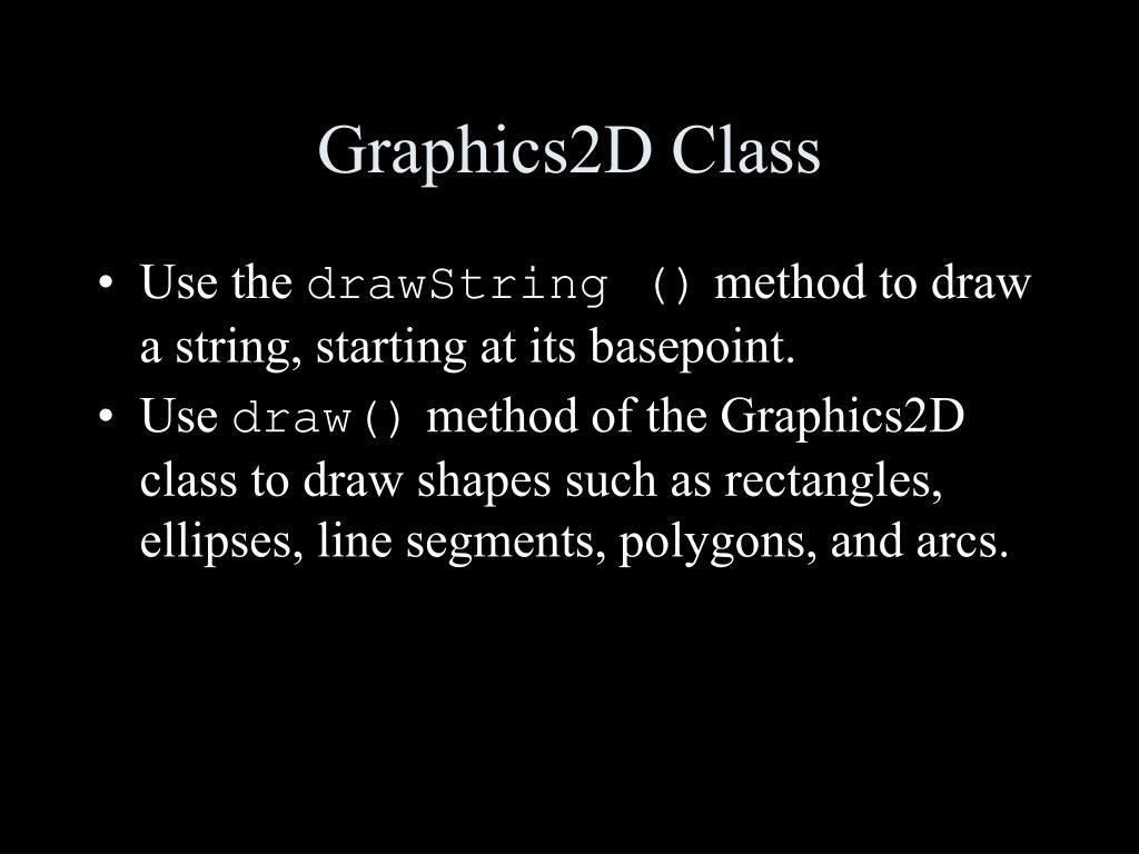 Graphics2D Class