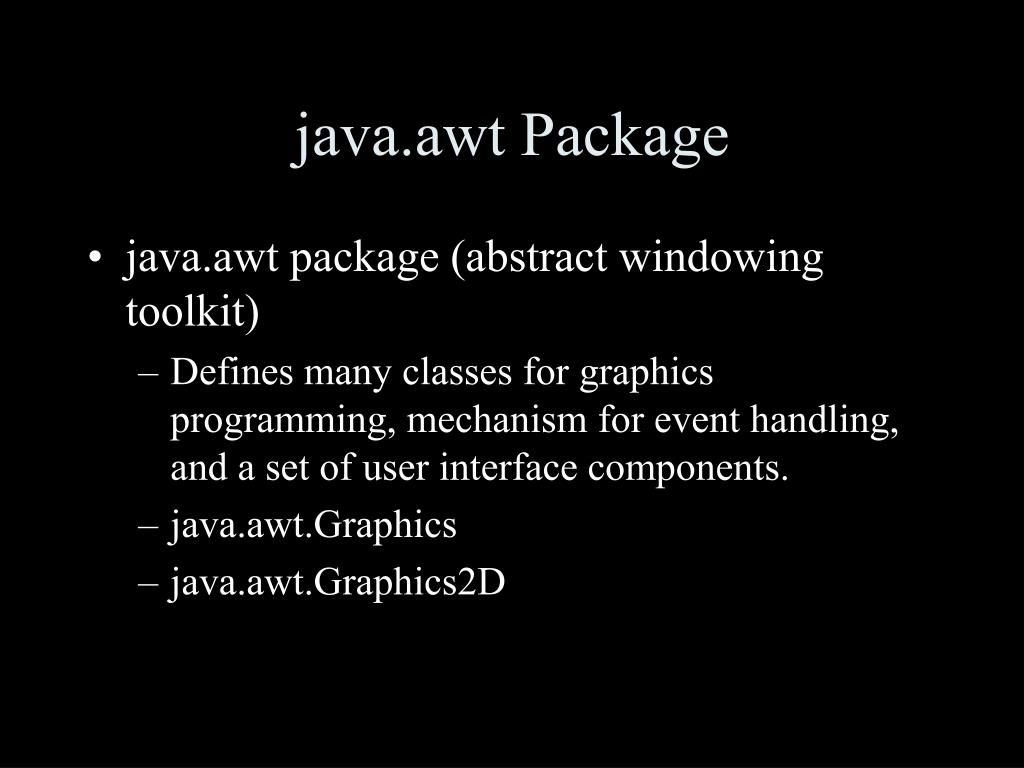 java.awt Package