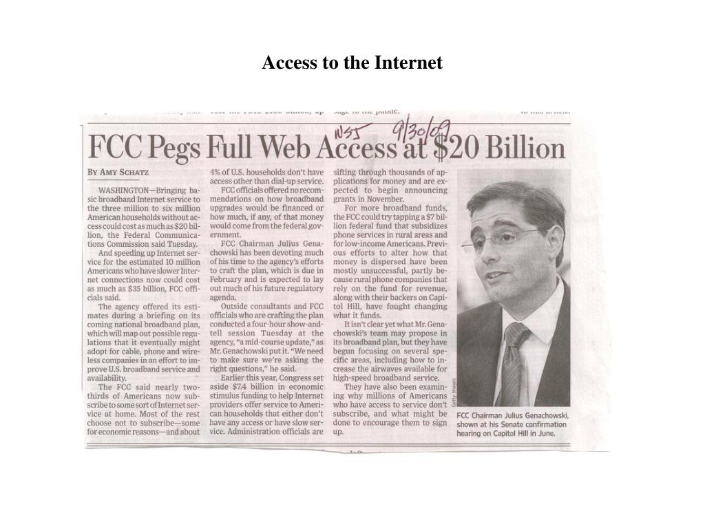 Access to the Internet