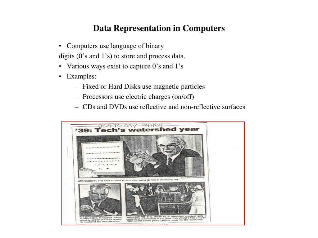 Data Representation in Computers