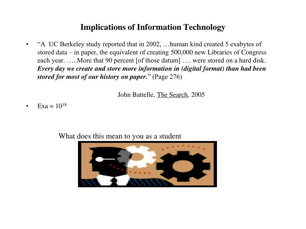 Implications of Information Technology