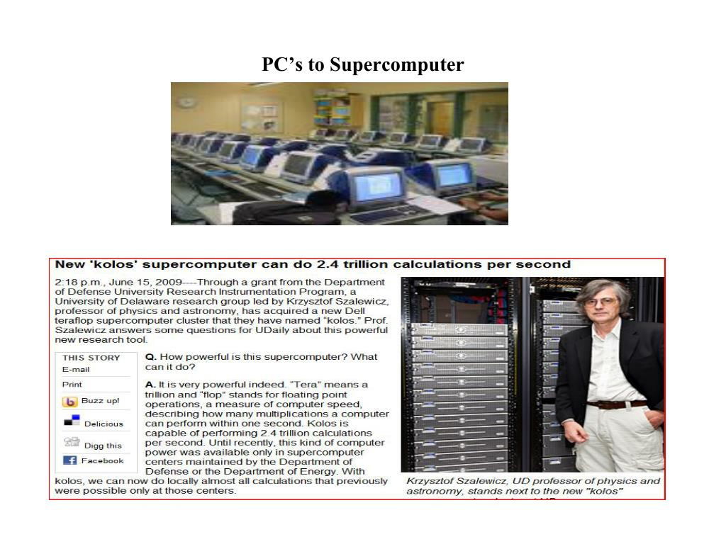 PC's to Supercomputer