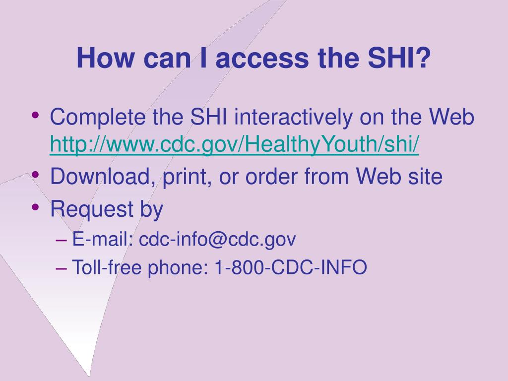 How can I access the SHI?