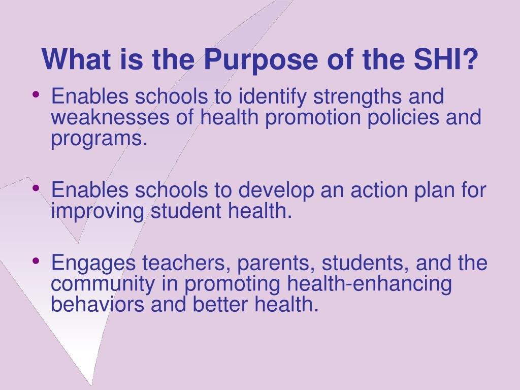What is the Purpose of the SHI?