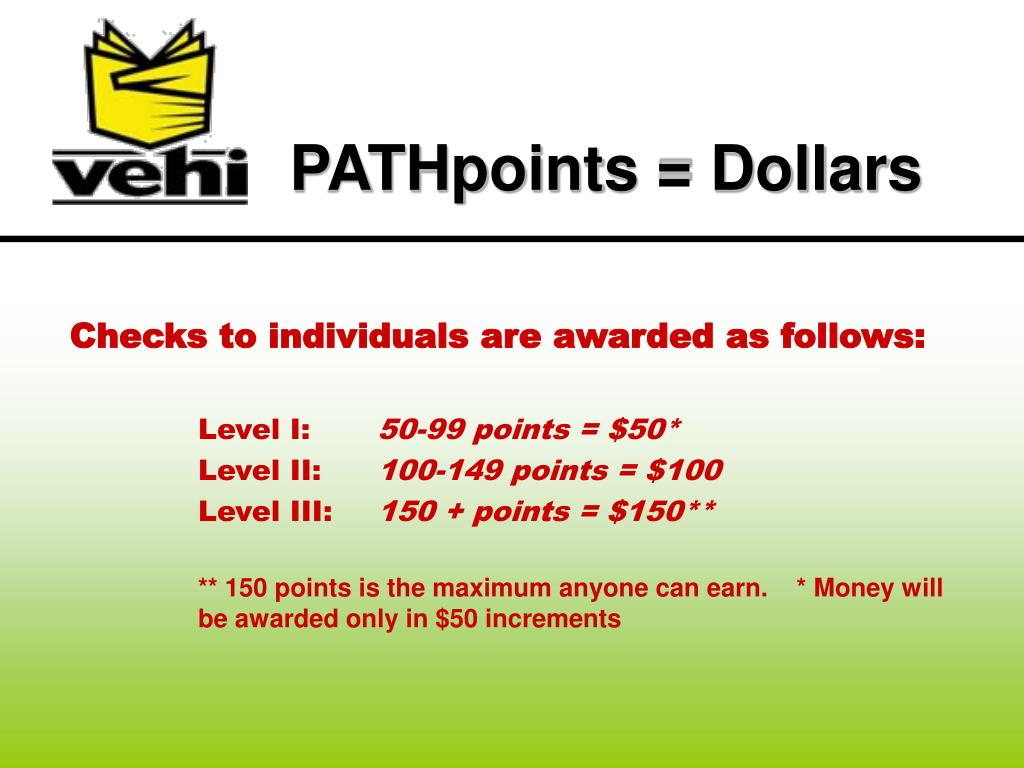 PATHpoints = Dollars