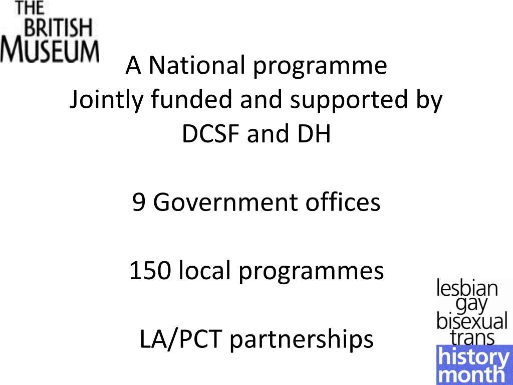A National programme