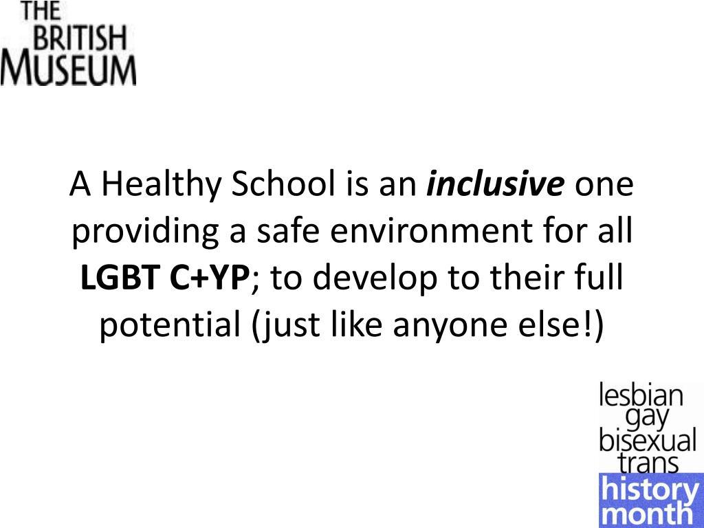 A Healthy School is an