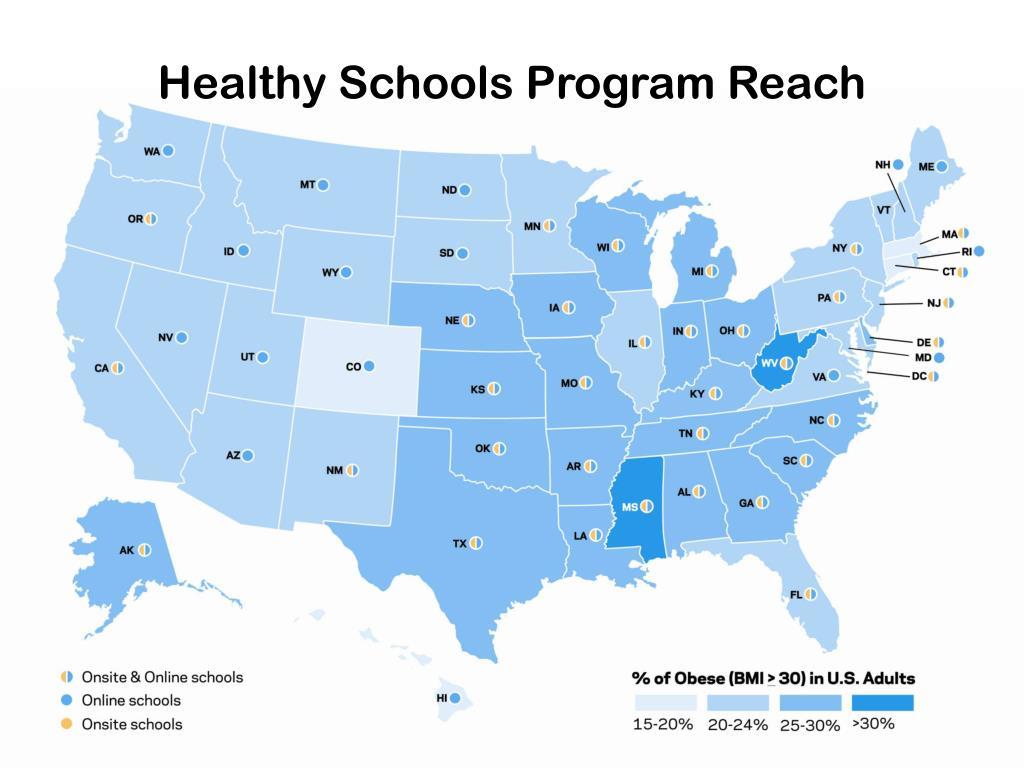 Healthy Schools Program Reach