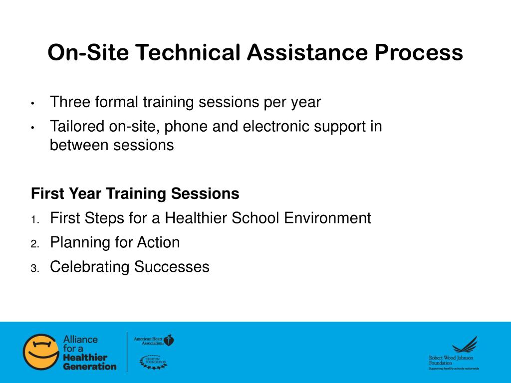 On-Site Technical Assistance Process