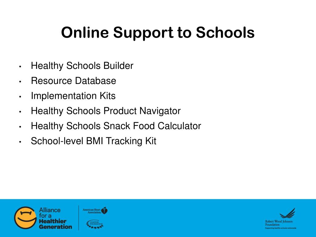 Online Support to Schools