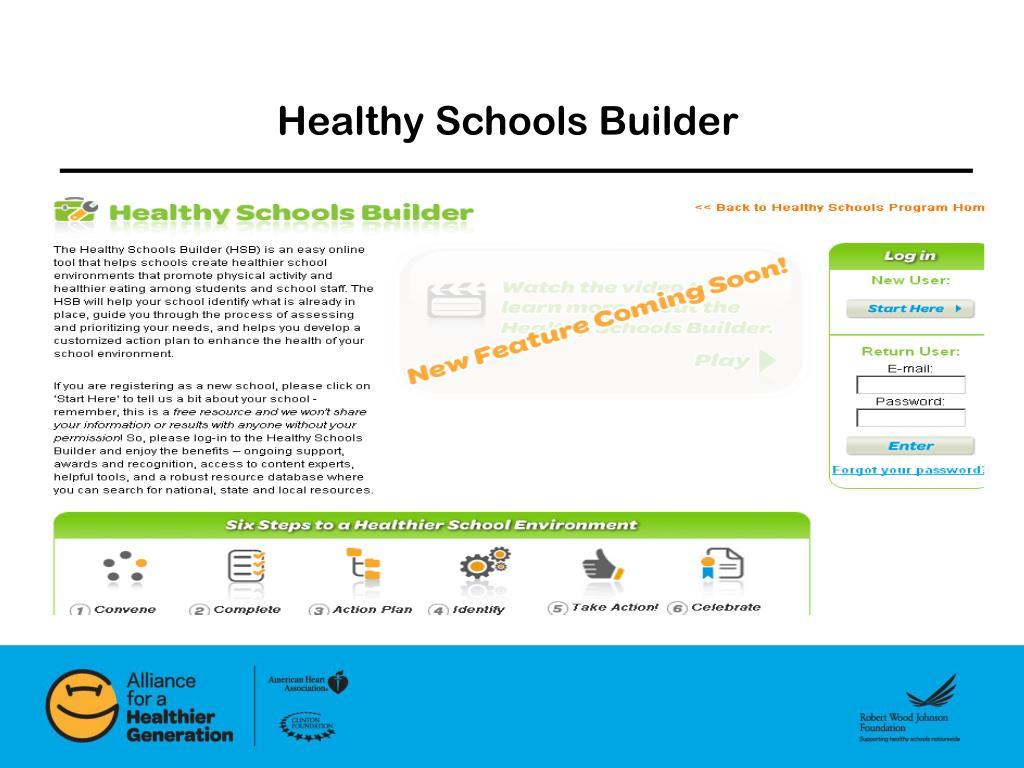 Healthy Schools Builder