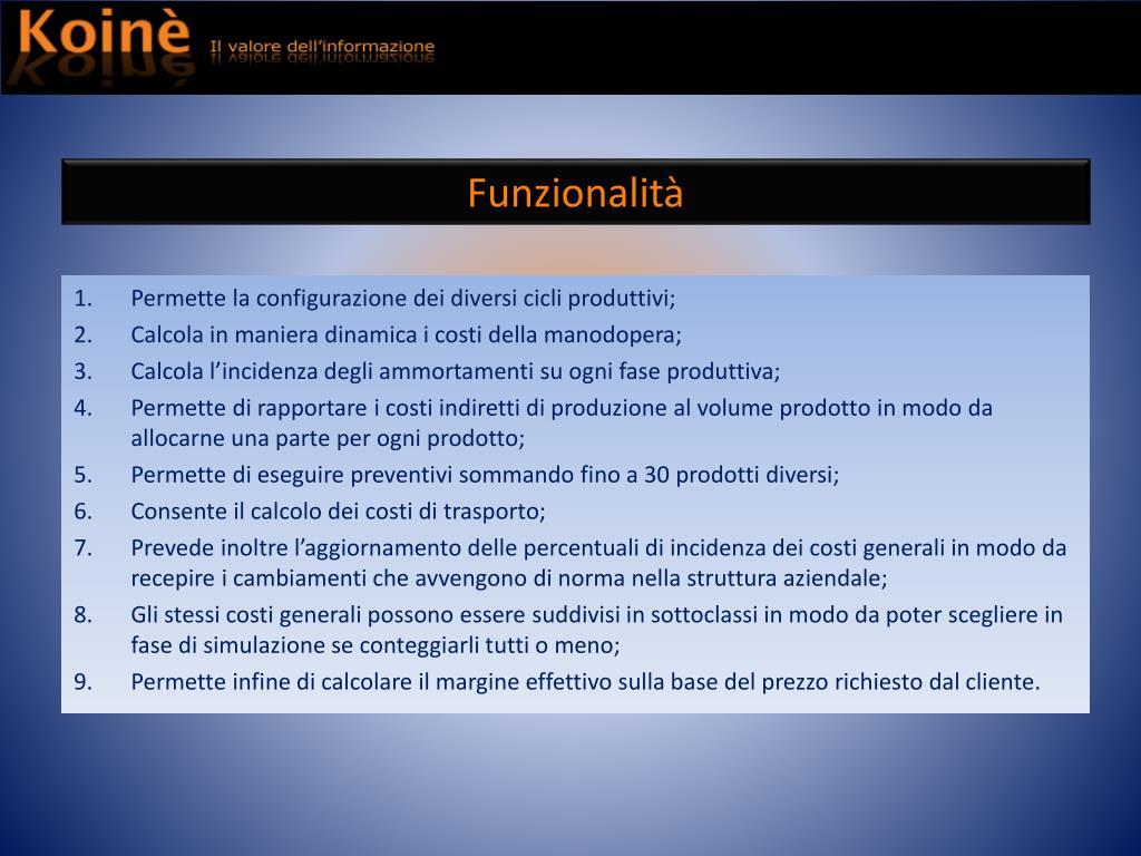 Funzionalità