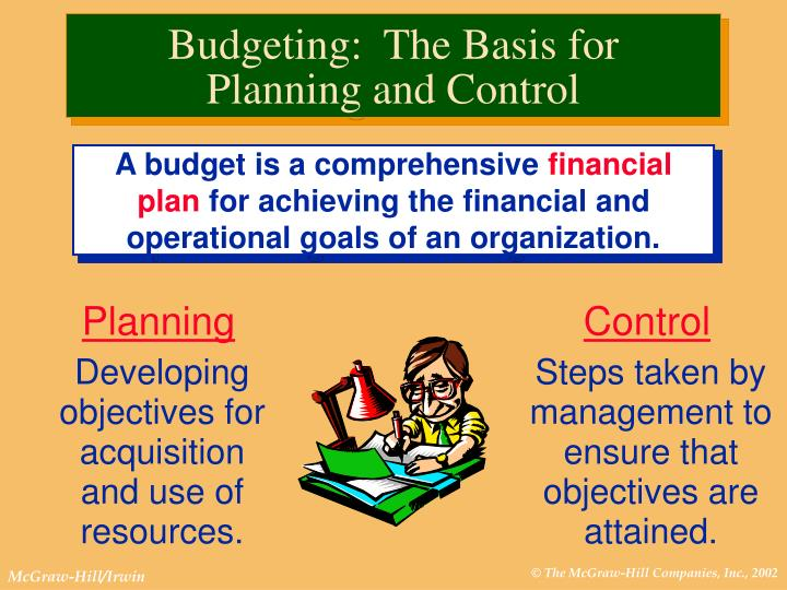 Budgeting the basis for planning and control l.jpg