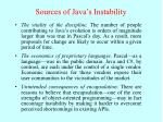 sources of java s instability