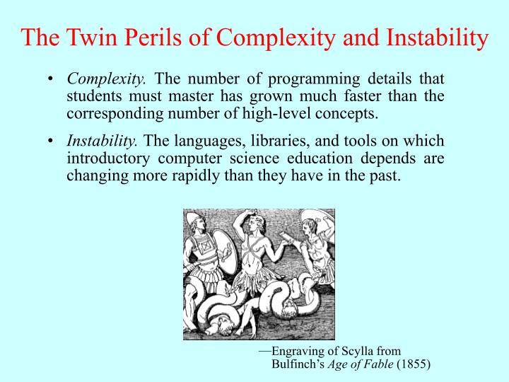 The twin perils of complexity and instability l.jpg