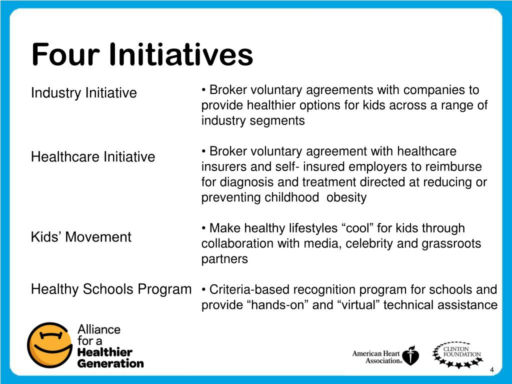 Four Initiatives