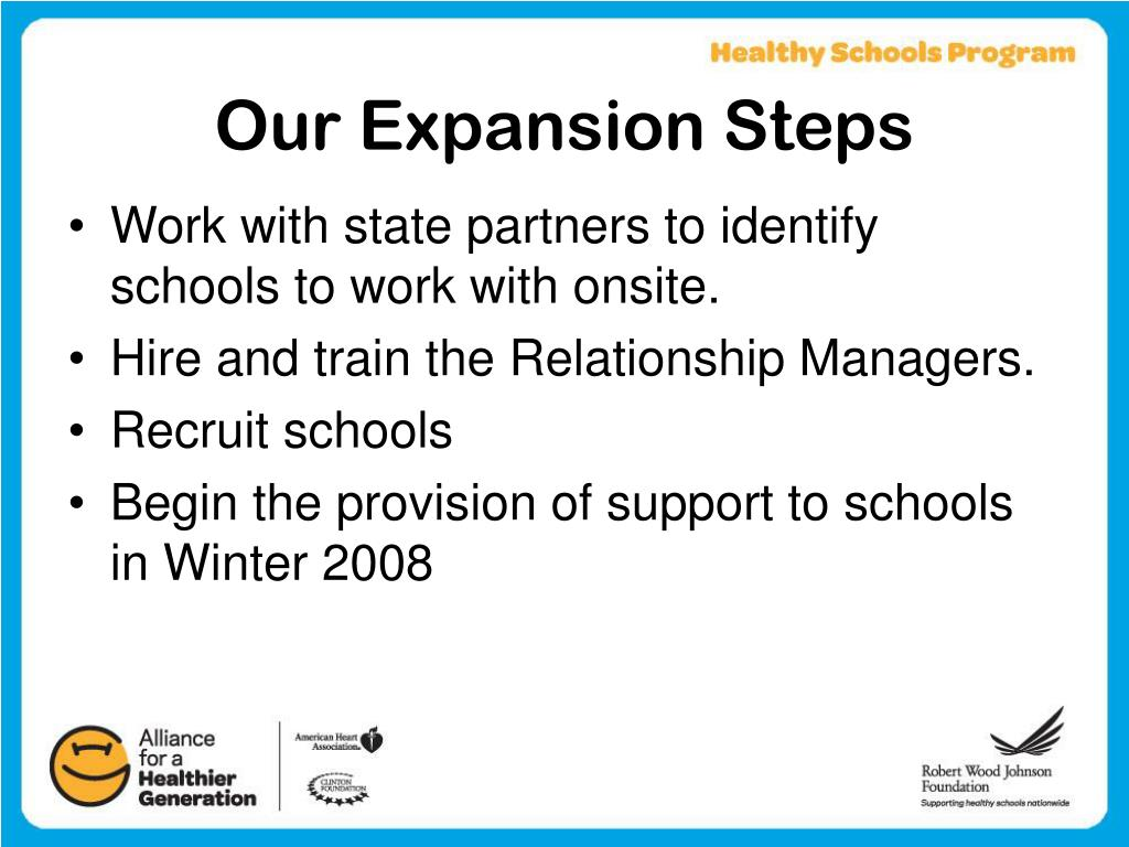 Our Expansion Steps