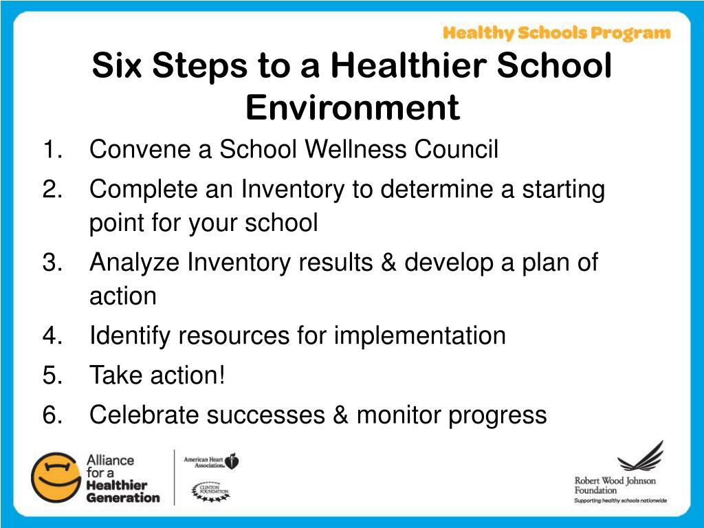 Six Steps to a Healthier School Environment