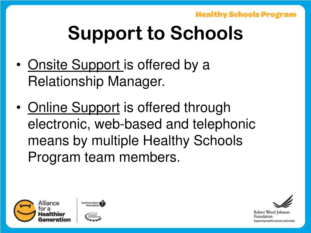 Support to Schools