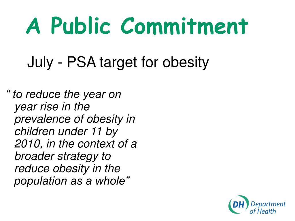 A Public Commitment
