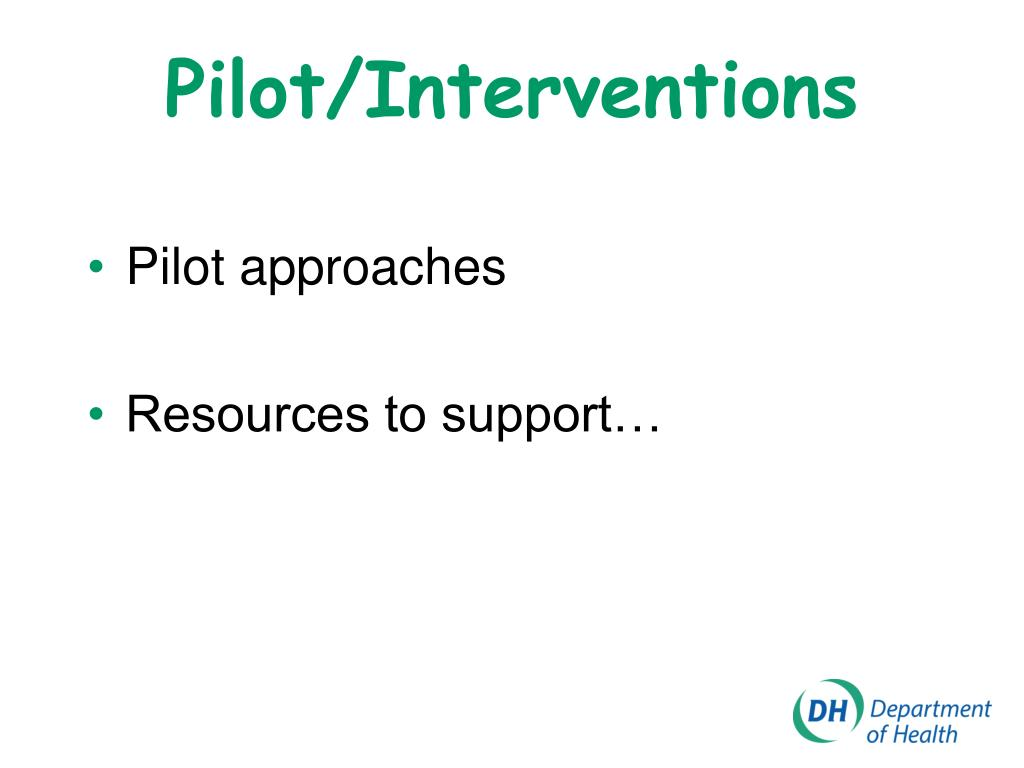 Pilot/Interventions