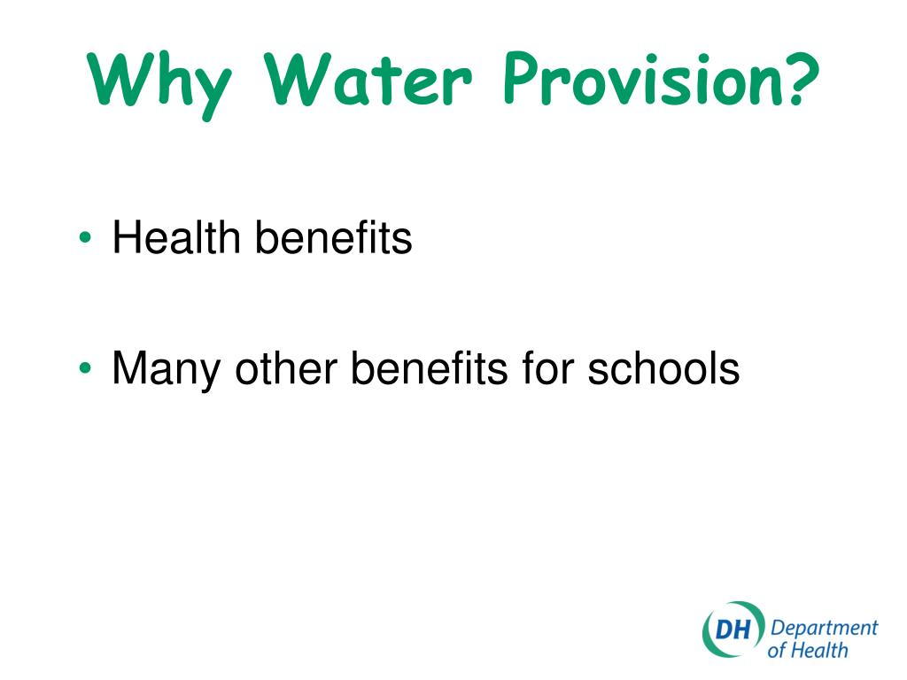 Why Water Provision?