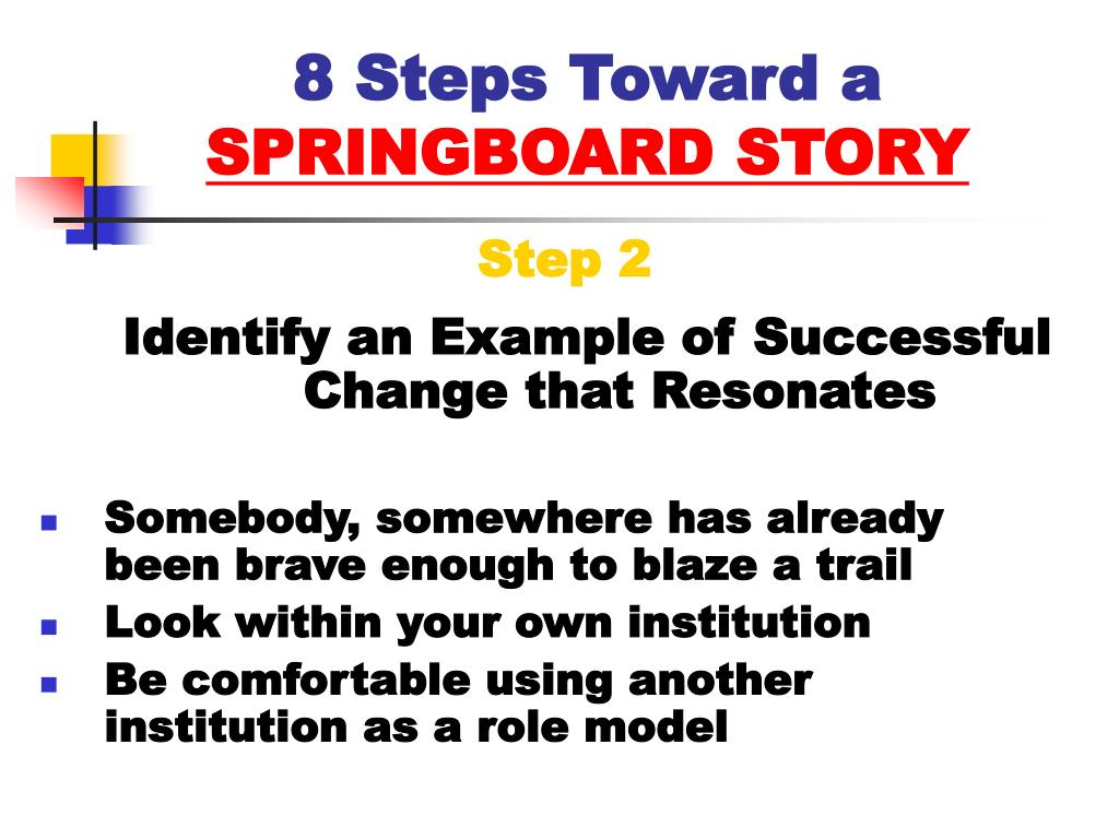 8 Steps Toward a