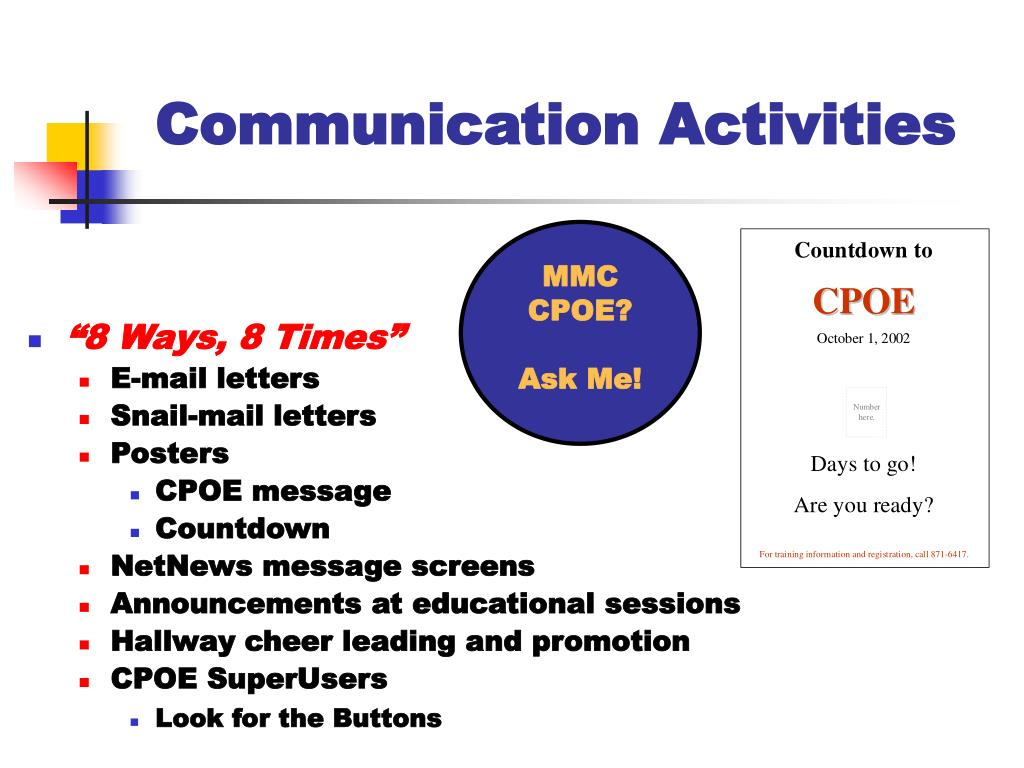 Communication Activities