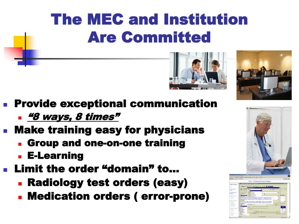 The MEC and Institution