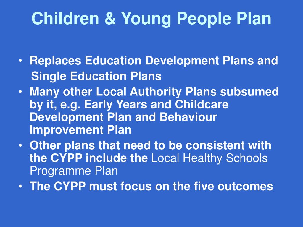 Children & Young People Plan