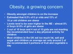 obesity a growing concern