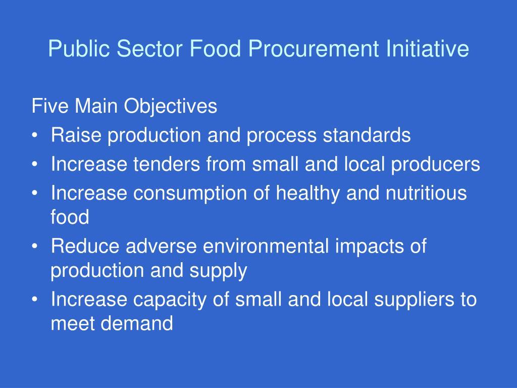 Public Sector Food Procurement Initiative