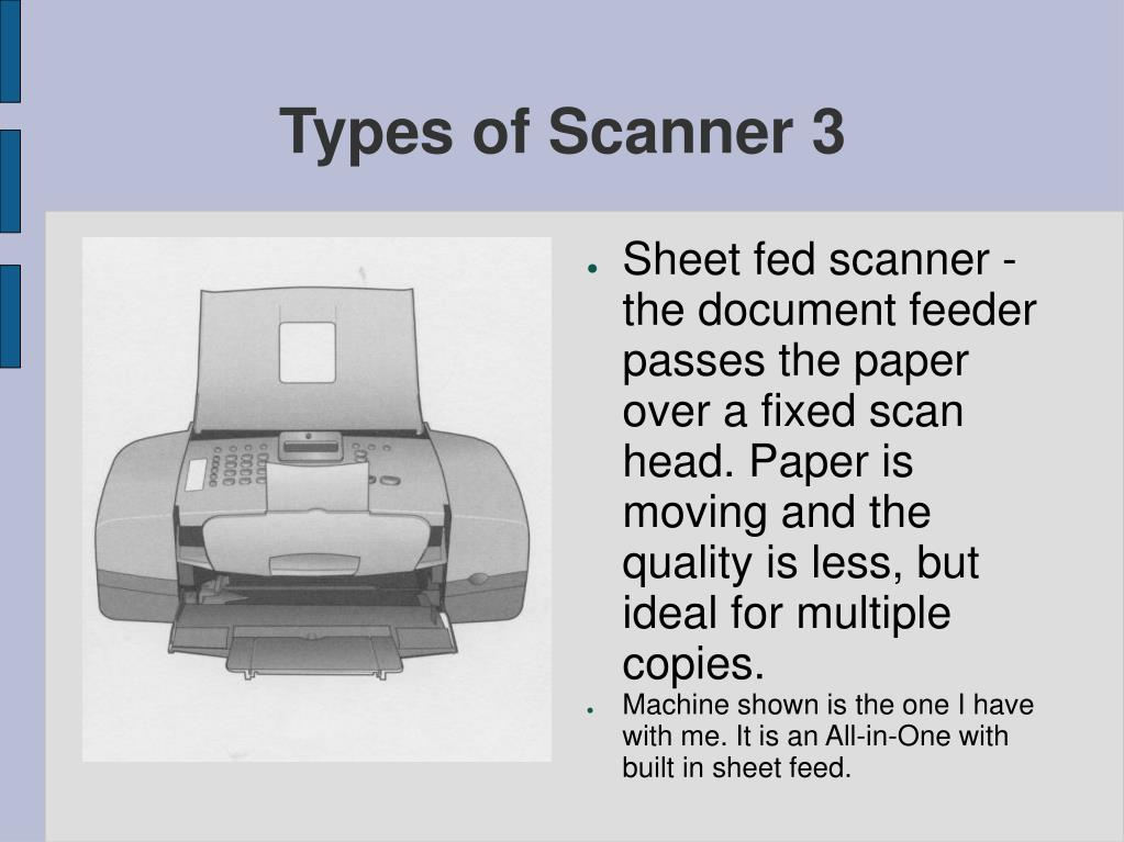 Types of Scanner 3