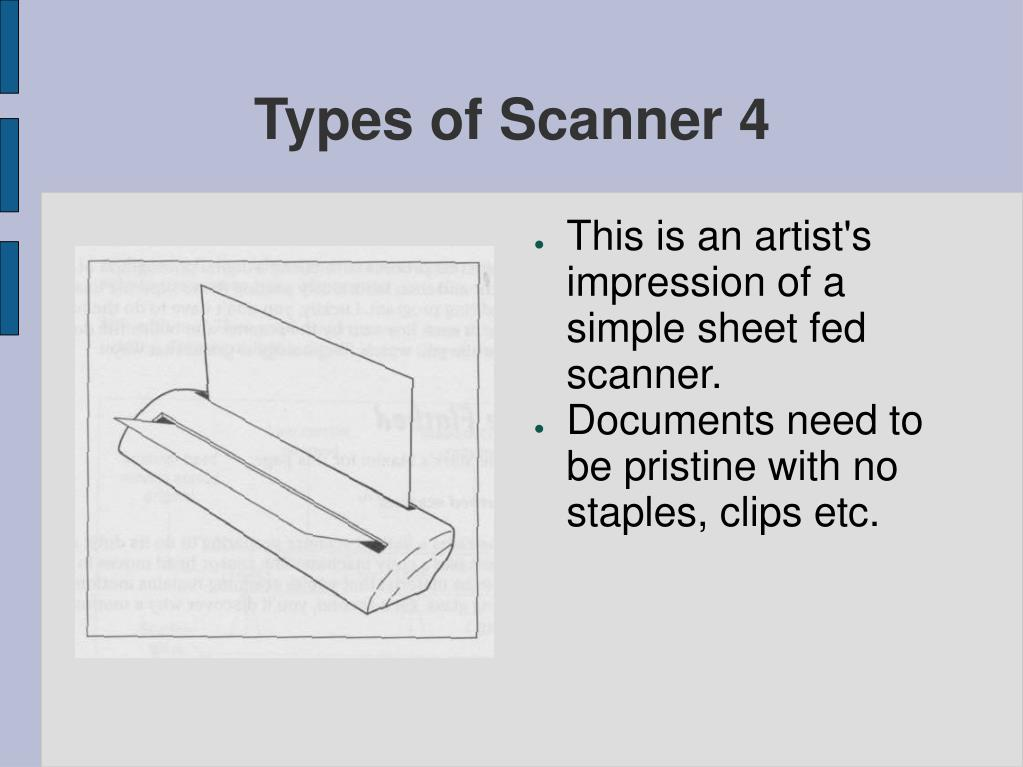 Types of Scanner 4